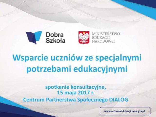 Wsparcie uczniów ze specjalnymi potrzebami edukacyjnymi – prezentacja MEN